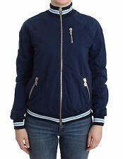 NWT $350 JOHN GALLIANO Blue Mock Zip Cardigan Jacket Sweatshirt Sweater XXS/US 2