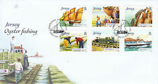 Jersey 2014 FDC Oyster Fishing 6v Set Cover Ships Boats Stamps
