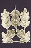 Alte gold geprägte Dresdner Pappe Ornamente für Eichenlaub - DIE CUT SCRAPS