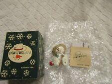 Snowonder Capper Snowman August Figurine Sarah's Attic 1998 with Box Coa New