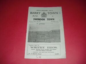 1954/55 WELSH CUP BARRY TOWN V SWINDON (1955)
