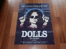 ORIGINAL MOVIE POSTER DOLLS 1986 FRENCH FOLDED ONE PANEL 'GRANDE' 1987 RELEASE
