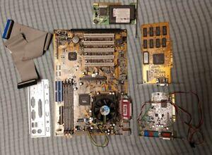 Intel Pentium iii 3 Mother Board Computer Parts Sound Card Vintage Retro PC