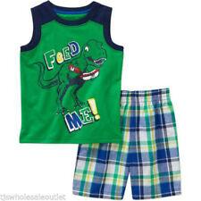 healthtex Toddler Boys Feed Me Dinosaur Short Set Size 4T