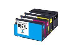 4PK HP 952XL Black and Cyan Magenta Yellow Remanufactured Ink Cartridge Bundle