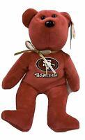 "San Francisco 49ers NFL TY Beanie Baby Teddy Bear Plush 8.5"" TY Beanie Babies"