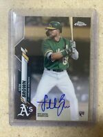 2020 TOPPS CHROME ROOKIE ON CARD AUTO RC SETH BROWN ATHLETICS A'S RARE FIRST