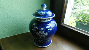 Antike Porzellan Deckelvase China