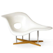 DOLLHOUSE MINIATURE White LaChaise Eames Modern Mid Century Chair - 1:12  NEW!