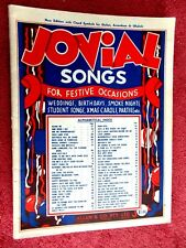 JOVIAL  SONGS  FOR  ALL  FESTIVE  OCCASIONS  NEW EDITION WITH CHORD  SYMBOLS