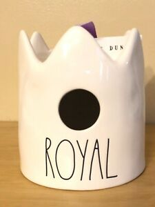 Rae Dunn Royal White Ceramic Bird House by Magenta NWT