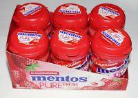 (36,78€/1kg) Mentos Pure Fresh Erdbeergeschmack Zuckerfrei 6 x 70 g 210 Dragees