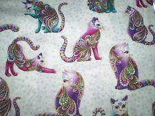 Cat-i-tude.   Big Cats 4201M-09   100% cotton fabric.