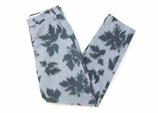 PAUL SMITH BLACK LABEL WOMENS ABSTRACT LEAF PRINT TAPERED TROUSERS *IT 38/UK 6*
