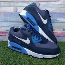 Nike Air Max 90 Mens Suede Mesh Trainers UK5.5 US6 EU38.5 Blue White 307793-406