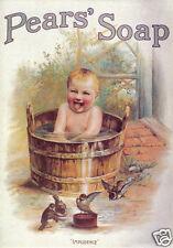 QUALITY CANVAS  PRINT  *    PEARS SOAP SERIES Bath Time