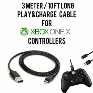 3M/10FT Charging Play+ Charge Cable Cord For XBOX ONE X Controller Pad Gamepad