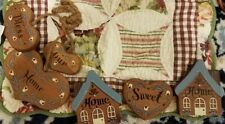 HOME SWEET HOME & BLESS OUR HOME WOOD  COUNTRY WALL PLAQUES