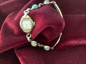 Bulova ladies antique watch 1950s-60s Scarab fashion adjustable bracelet.