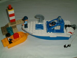 Lego Duplo 4861 Police Boat  100% complete without box