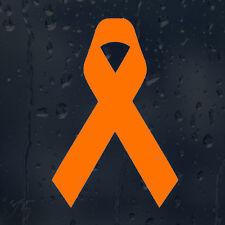 Signo de Cáncer Leucemia cinta naranja para cada pelea ganó Coche Decal Pegatina De Vinilo