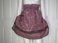 Vintage Floral Checked Half Apron 1950's Style Size XS/S/M 100% Cotton 1 Pocket