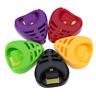 3Pcs Portable Plactic Guitar Pick Plectrum Holder Case Box Acoustic Heart Shaped