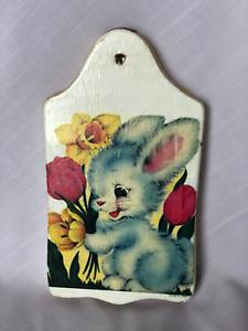 Decorative Decoupage Bunny Wall Hanging