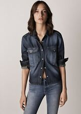 Mango Denim Jeans Camisa Tamaño S