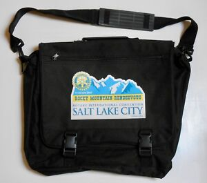 2007 Rotary International Convention Black Fabric Briefcase - Salt Lake City, UT