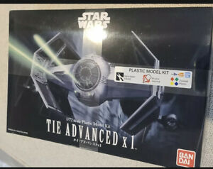Bandai 0191407 Star Wars TIE Advanced x1 Fighter 1:72 Scale Model Kit NEW Sealed