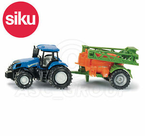 SIKU NO.1668 1:87 Scale NEW HOLLAND TRACTOR WITH CROP SPRAYER Dicast Model / Toy