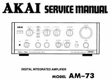 AKAI AM-73 DIGITAL INTEGRATED AMP SERVICE MANUAL INC SCHEMS PRINTED IN ENGLISH