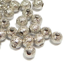 50 Metallperlen Zwischenteile Spacer Rund 4mm Stardus Silber Schmuck BEST M12