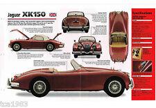 JAGUAR XK150/xk-150 SPEC Hoja/Catálogo/CATALOG : 1958 , ..