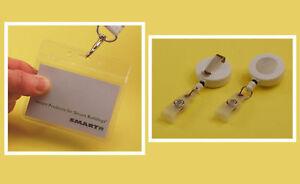 Visitor Pass Kit: PVC Holder & White Plastic Badge-Reel