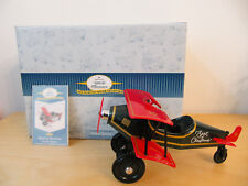 "New Hallmark Kiddie Car Classic 1930 ""Spirit of Christmas� Custom Biplane"
