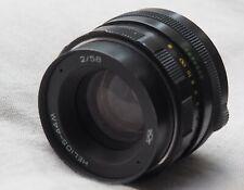 Helios 44m 58mm f2 vintage SLR camera lens (M42 mount) Zenit, Praktica, Pentax