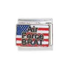 USA Airforce Brat enamel 9mm charm - fits 9mm classic Italian charm bracelets
