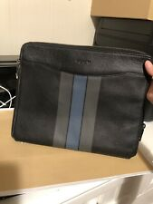 New COACH TECH CASE IN VARSITY LEATHER IN BLACK/GRAPHITE/DARK DENIM (F66312)
