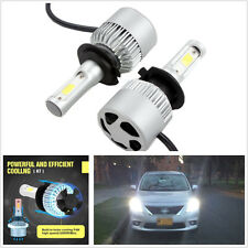 One Pair 72W 6500K H7 Cree LED COB Car Off-Road Headlight Bulbs Conversion Lamps