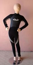 Wetsuit for Children Steamer Wetsuit, Back Zip, Light Grey / Black, Size 6