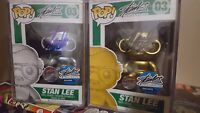 Gold And Silver Stan Lee Funko Pops Signed