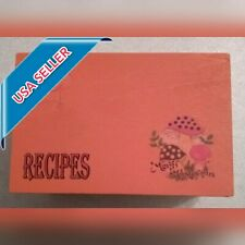 Sears Merry Mushroom Design Recipe Box - 3x5 Card Size