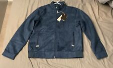 BV Clothing Blue Suede Jacket (Large)