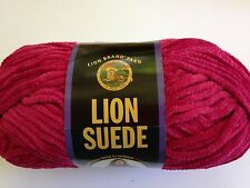 Lion Brand Suede Yarn  1 Skein  ROSE   Polyester  Bulky   Discontinued