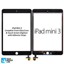 NUOVO iPad Mini 3 COMPLETA ANTERIORE VETRO/convertitore analogico-digitale Montaggio Touch Screen-Nero