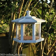 Moderne jardin suspendu oiseau mangeoire lanterne de graines d'oiseaux/nut feeder station blanc