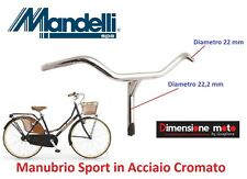 0115 - Manubrio Mandelli Parma in Acciaio Cromato per Bici 26-28 Single Speed