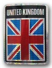 Wholesale Lot 12 UK United Kingdom Country Flag Reflective Decal Bumper Sticker